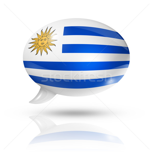 Uruguaian flag speech bubble Stock photo © daboost
