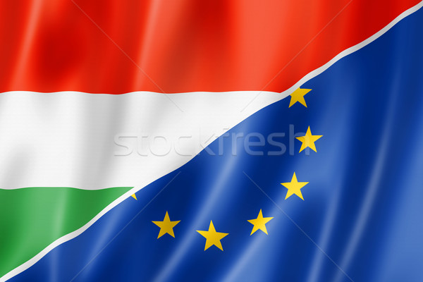 Hungary and Europe flag Stock photo © daboost