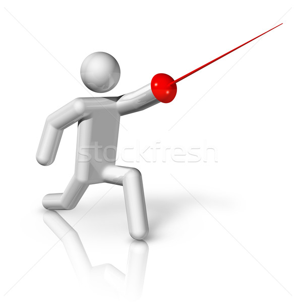 Fencing 3D symbol Stock photo © daboost