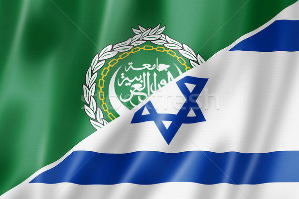 Arab liga Izrael zászló vegyes háromdimenziós Stock fotó © daboost
