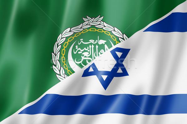 árabes liga Israel bandera mixto tridimensional Foto stock © daboost