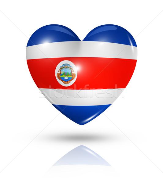 Love Costa Rica, heart flag icon Stock photo © daboost