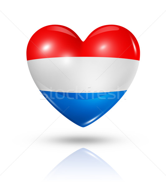 Stock photo: Love Netherlands, heart flag icon