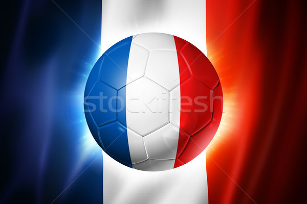 Soccer football ball with France flag Stock photo © daboost