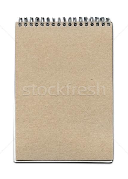 Vintage spirale étroite portable papier brun couvrir Photo stock © daboost