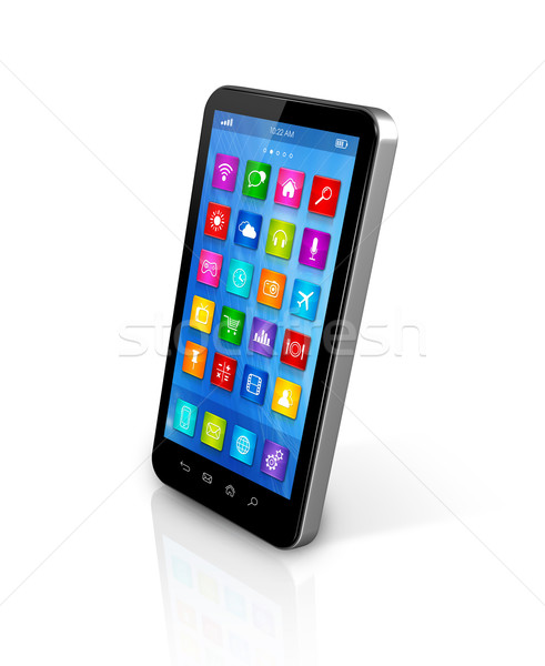 Stock photo: Smartphone Touchscreen HD - apps icons interface