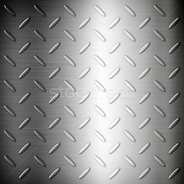 Steel diamond brushed plate background texture Stock photo © daboost