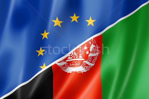 Европа Афганистан флаг смешанный оказывать Сток-фото © daboost