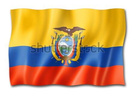 Futball futball labda Ecuador zászló 3D Stock fotó © daboost