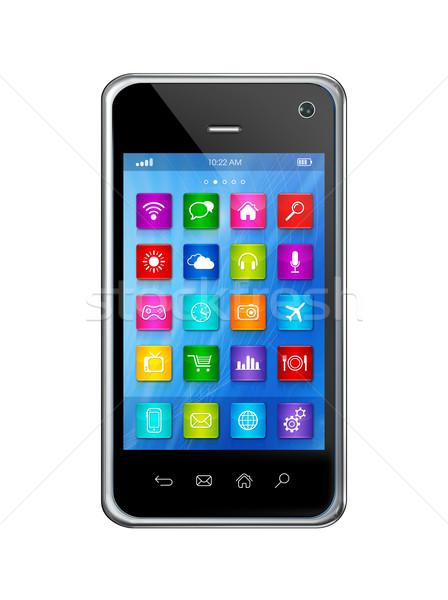 スマートフォン タッチスクリーン hd アプリ アイコン インターフェース ストックフォト © daboost
