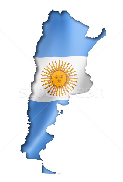 Argentinian flag map Stock photo © daboost