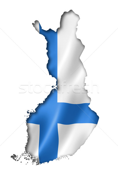 Finnish flag map Stock photo © daboost