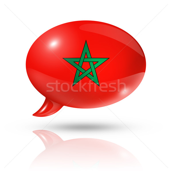 Moroccan flag speech bubble Stock photo © daboost