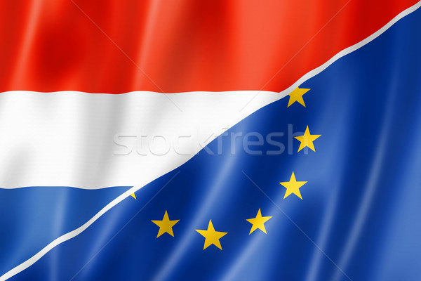 Netherlands and Europe flag Stock photo © daboost