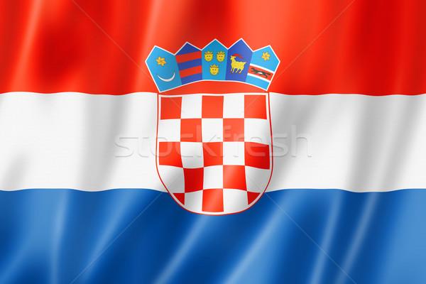 Croatian flag Stock photo © daboost