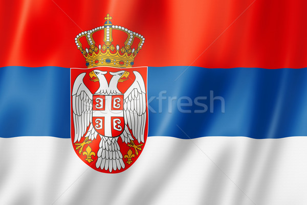 Serbian flag Stock photo © daboost