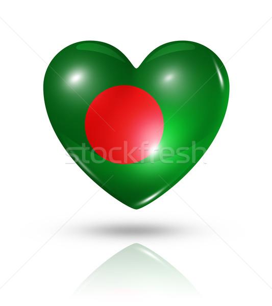 Amor Bangladesh coração bandeira ícone símbolo Foto stock © daboost