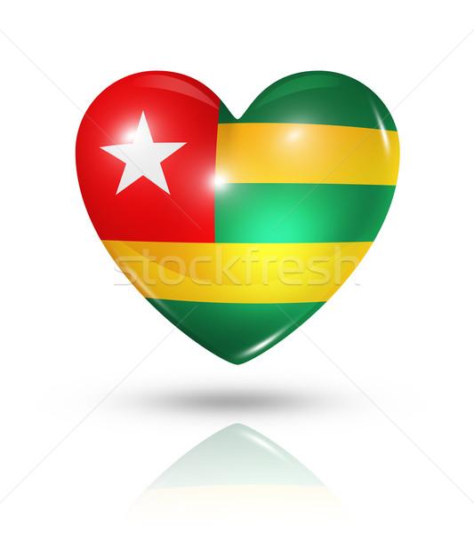 Amore Togo cuore bandiera icona simbolo Foto d'archivio © daboost