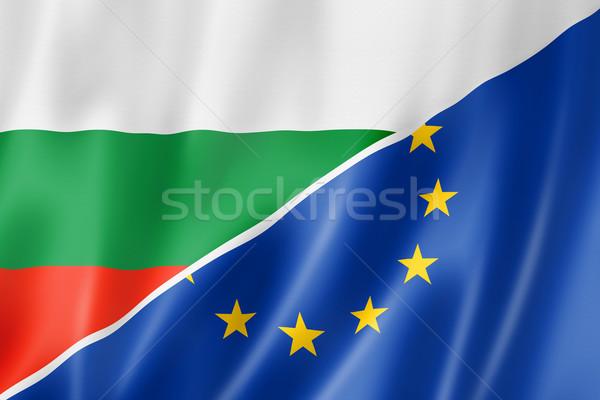Bulgaria and Europe flag Stock photo © daboost