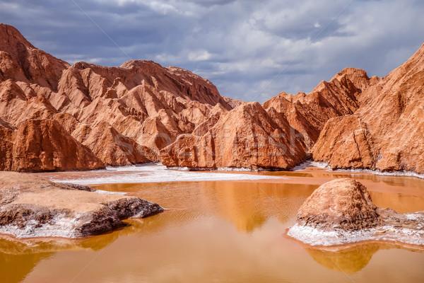 La panorama deserto blu rosso pietra Foto d'archivio © daboost