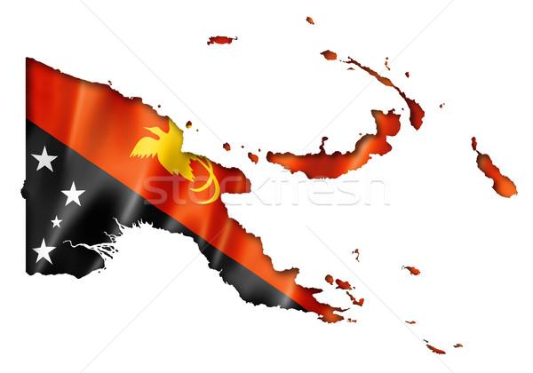Папуа-Новая Гвинея флаг карта оказывать изолированный Сток-фото © daboost