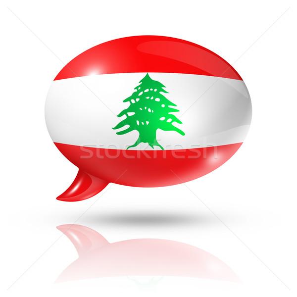 Lebanese flag speech bubble Stock photo © daboost