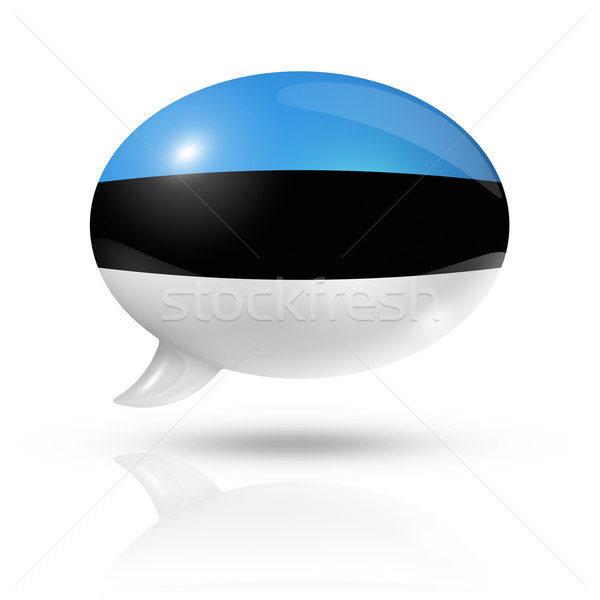 Estonian flag speech bubble Stock photo © daboost