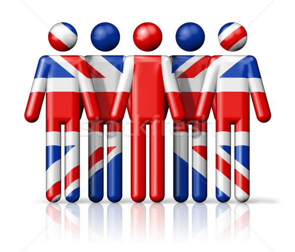 Flag of United Kingdom, UK on stick figure Stock photo © daboost