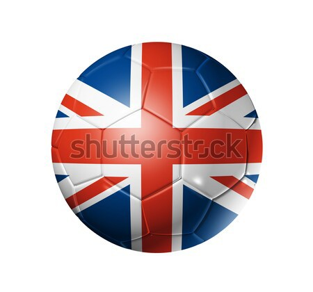 Voetbal voetbal bal vlag 3D voetbal Stockfoto © daboost