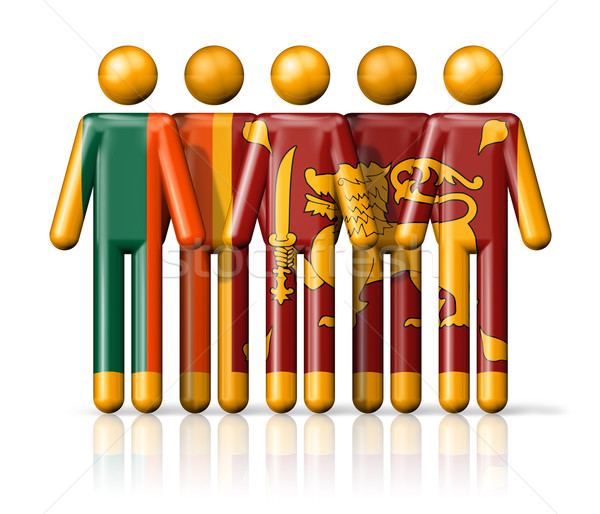 Vlag Sri Lanka sociale gemeenschap symbool Stockfoto © daboost