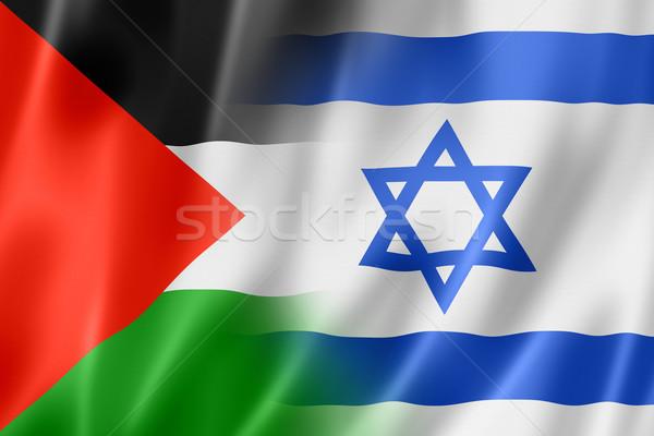 Israele bandiera mista tridimensionale illustrazione Foto d'archivio © daboost