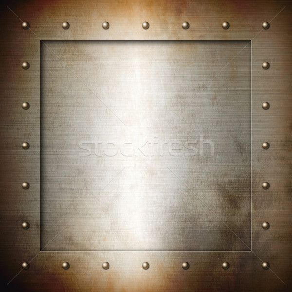 Rusty brushed Steel frame Stock photo © daboost