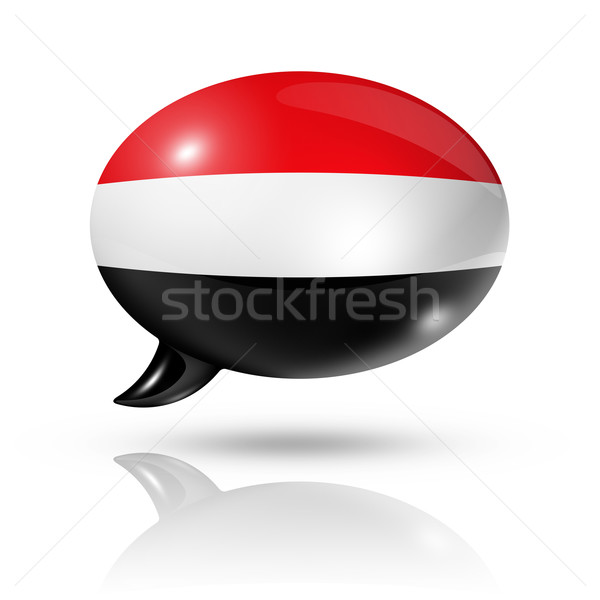 Yemen flag speech bubble Stock photo © daboost