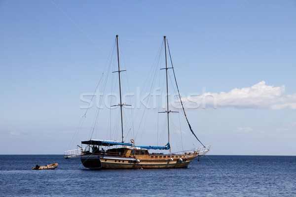 sailing ship on Mediterranean sea Stock photo © daboost