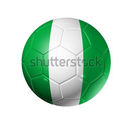 Voetbal voetbal bal Nigeria vlag 3D Stockfoto © daboost