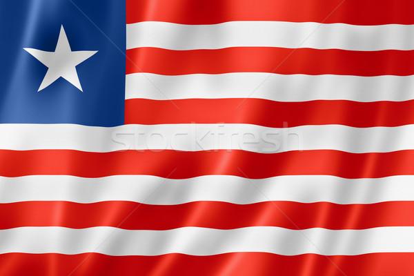 Liberian flag Stock photo © daboost