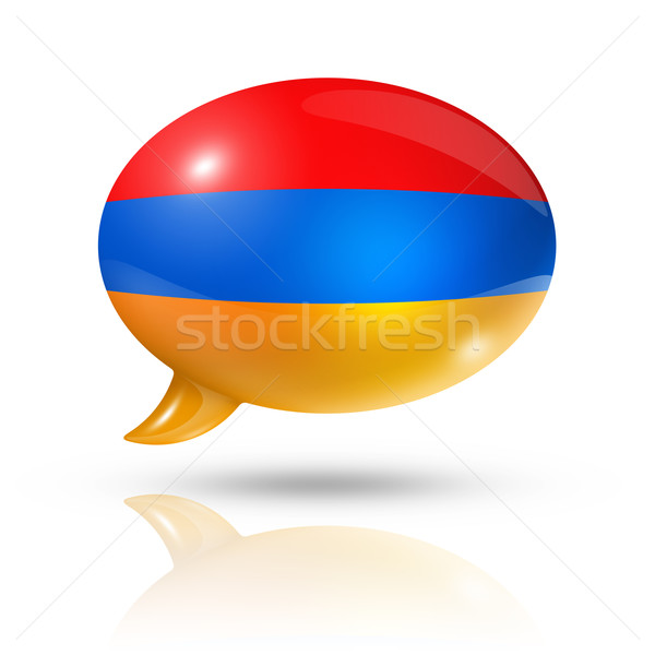 Armenian flag speech bubble Stock photo © daboost