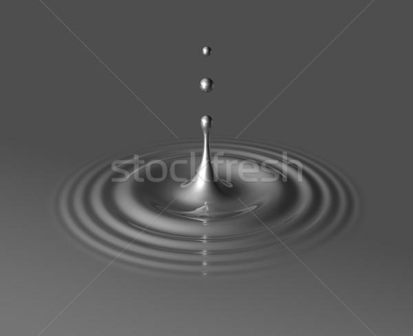 drop of mercury and ripple Stock photo © daboost