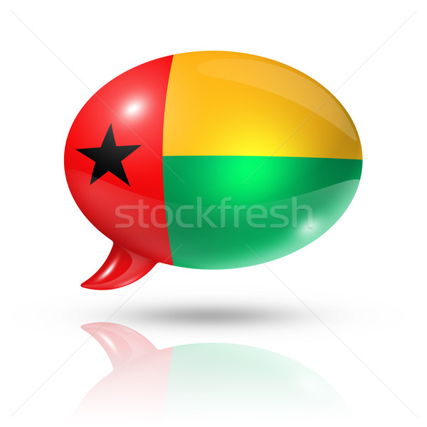 Guinea Bissau flag speech bubble Stock photo © daboost