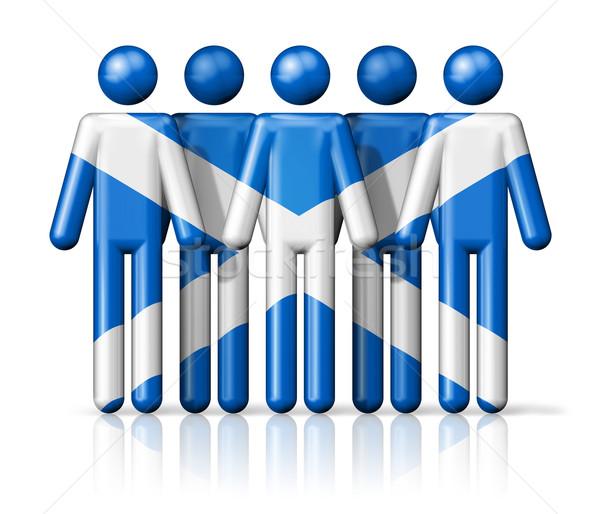 Bandeira escócia social comunidade símbolo Foto stock © daboost