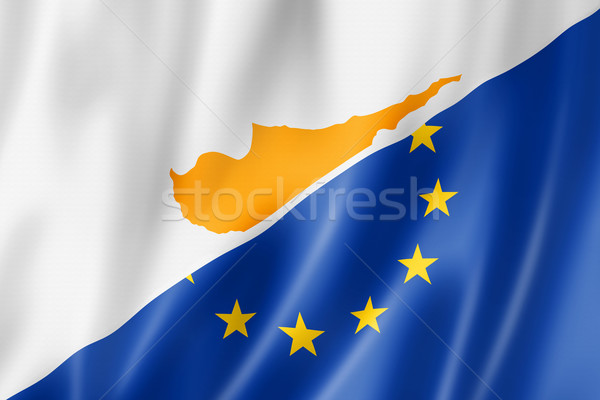 Cyprus and Europe flag Stock photo © daboost