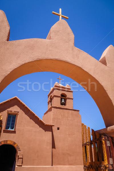 Igreja Chile velho céu rua montanha Foto stock © daboost