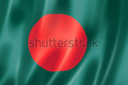 Bangladesh bandeira tridimensional tornar cetim textura Foto stock © daboost