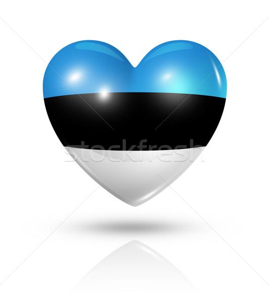 любви Эстония сердце флаг икона символ Сток-фото © daboost