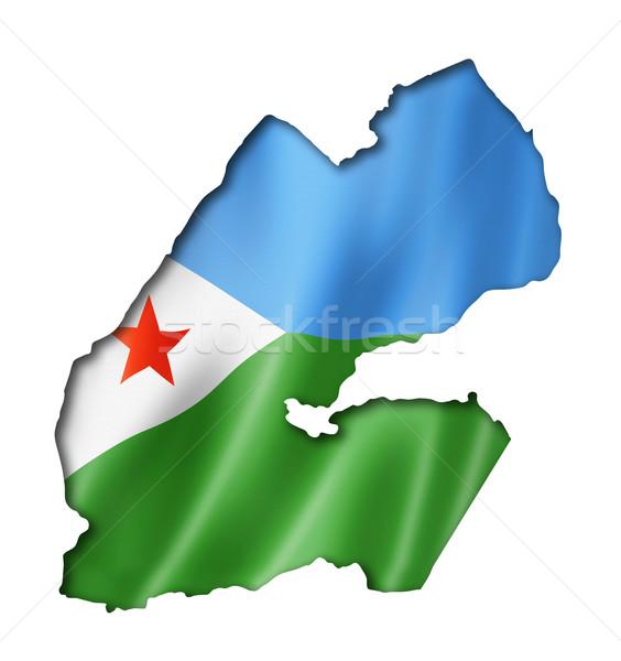 Dżibuti banderą Pokaż trójwymiarowy oddać odizolowany Zdjęcia stock © daboost