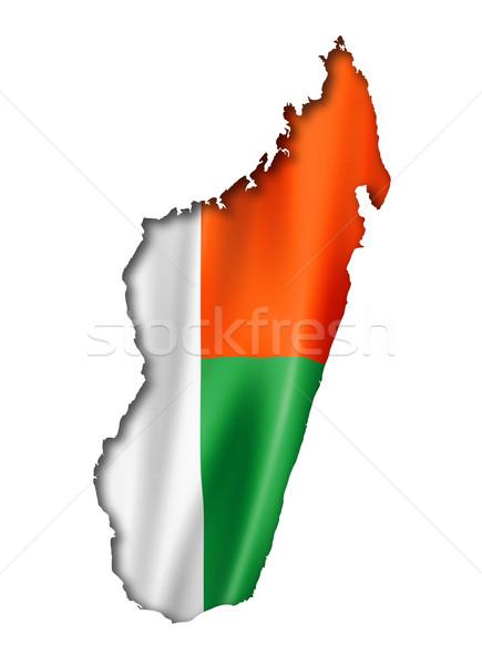 Madagascar vlag kaart geven geïsoleerd Stockfoto © daboost