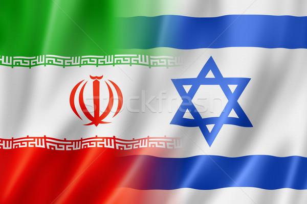 Irã Israel bandeira misto tridimensional tornar Foto stock © daboost
