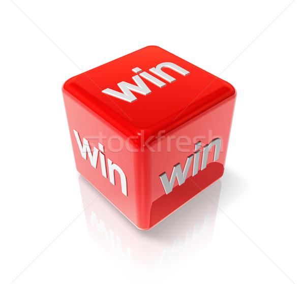 Win red dice Stock photo © daboost