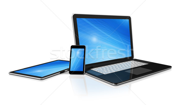 Laptop Handy digitalen Computer 3D Stock foto © daboost