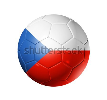 Soccer football ball with Czech Republic flag Stock photo © daboost